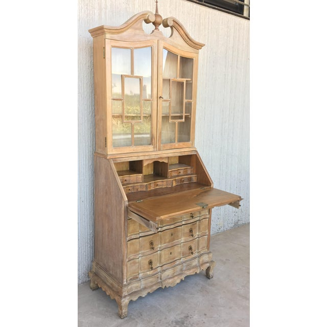 Baroque 20th Century George III Secretary Bookcase For Sale - Image 3 of 13