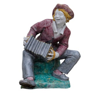 Livesize Garden Sculpture - Accordion Player - By Josef Wackerle For Sale