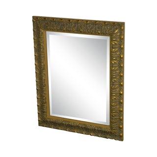 Quality Carved Gilt Frame Beveled Mirror For Sale