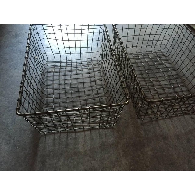 French Wire Vintage Style Market Baskets- Set of 3 - Image 9 of 11