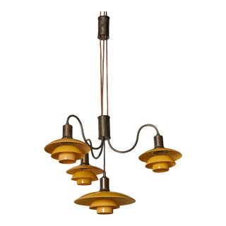 """Emperor"" Suspension Chandelier by Poul Henningsen, 1930s For Sale"