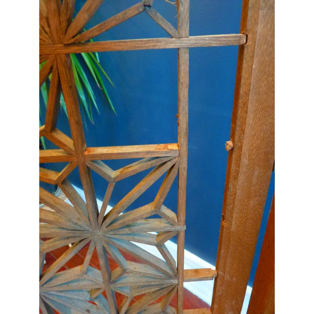 Boho Chic Mid Century Modern Screen or Room Divider For Sale - Image 3 of 13