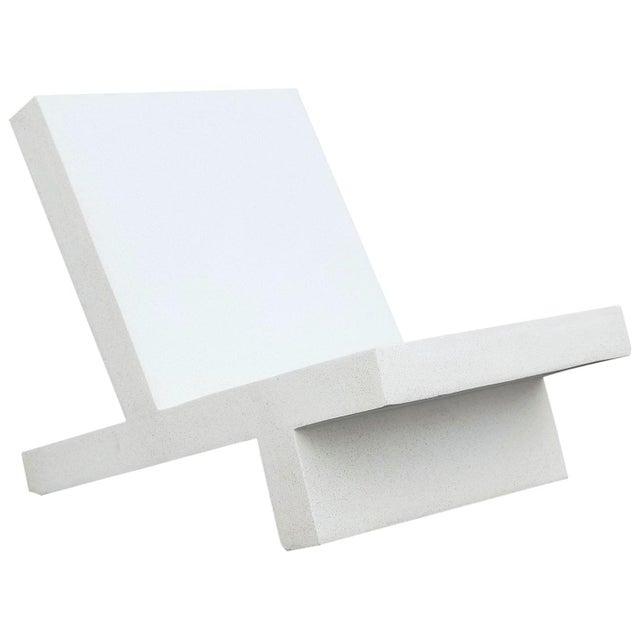 Plastic Zachary A. Design White Finish Cast Resin 'Wavebreaker' Lounge Chair For Sale - Image 7 of 7