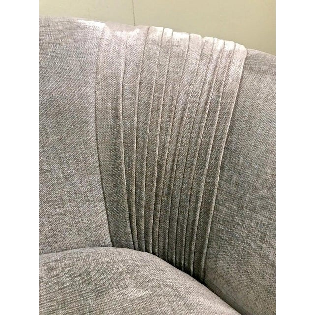 2000 - 2009 Contemporary Upholstered Curved Sofa For Sale - Image 5 of 7