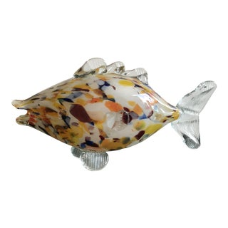 Murano Style Glass Fish For Sale