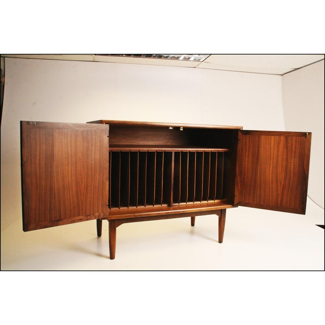 Mid-Century Modern Drexel Wood Record Cabinet - Image 3 of 11