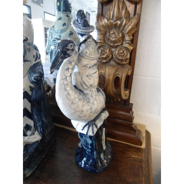 Woman on Heron Porcelain Statue - Image 4 of 5