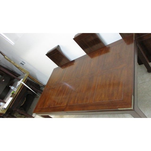 Chippendale Henredon Pan Asian Dining Room Conference Table For Sale In Philadelphia - Image 6 of 13