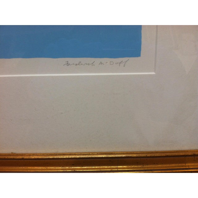 "Blue Vintage Mid-Century Frederick McDuff ""Reflections"" Framed & Matted Limited Edition Print For Sale - Image 8 of 10"