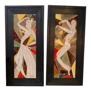 A Pair of Ceramic Plaques For Sale