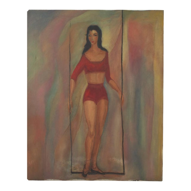 Mid Century Modern Portrait of a Woman For Sale