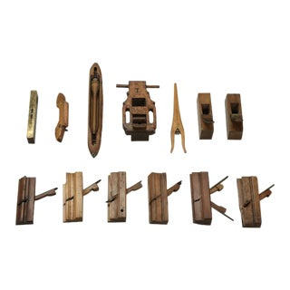 Antique French Woodworking Tools - Collection of 13 For Sale