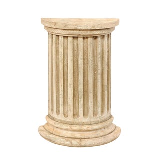 19th Century Italian Fluted Half Column Pedestal For Sale
