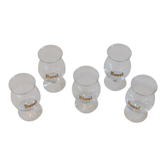 Duvel Snifter Beer Glasses - Set of 5 For Sale