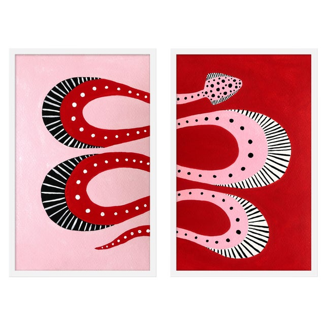 "Medium ""Cherry Pop, Set of 2"" Print by Willa Heart, 40"" X 31"" For Sale"