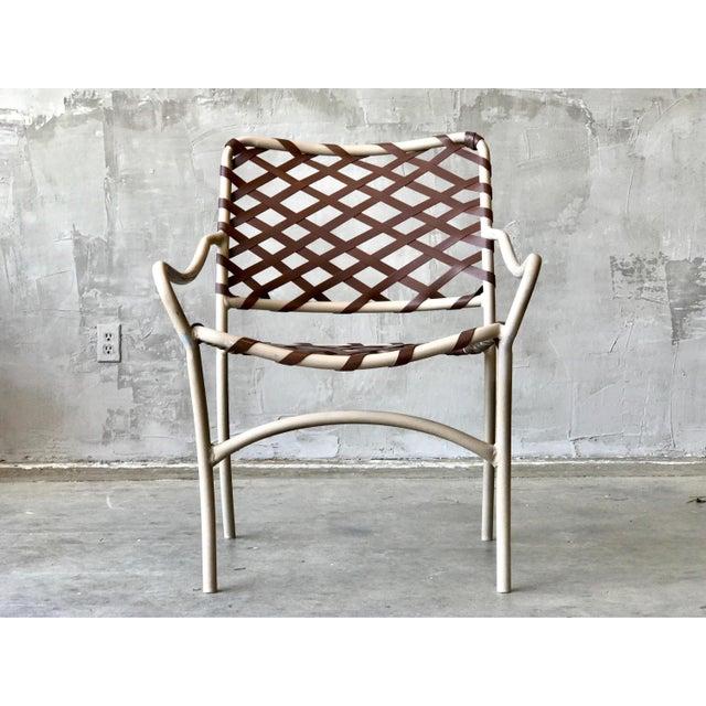 Brown Jordan Webbed Patio Chairs - Image 4 of 5
