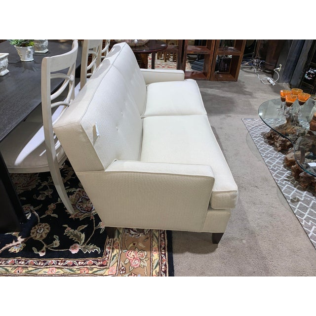 Transitional Ethan Allen Tuxedo Sofa For Sale - Image 3 of 10