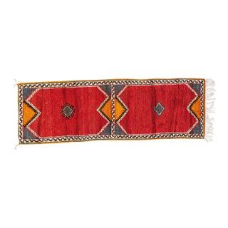 """Berber Minimalist Pattern Rug-2'1'x6'4"""" For Sale"""