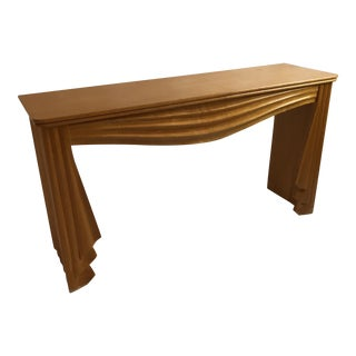Carved Wood Swag Console Table
