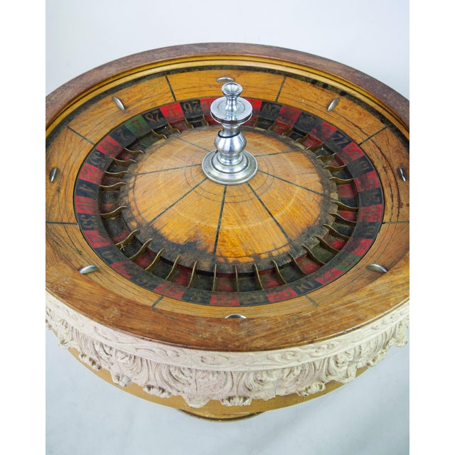 large antique vintage roulette wheel chairish. Black Bedroom Furniture Sets. Home Design Ideas
