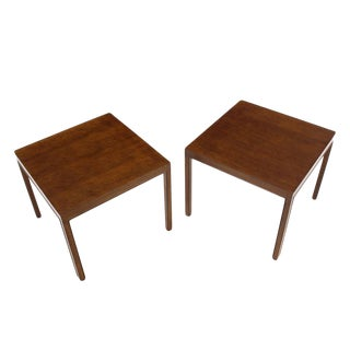Pair of Large Square Lamp End Tables by Dunbar For Sale