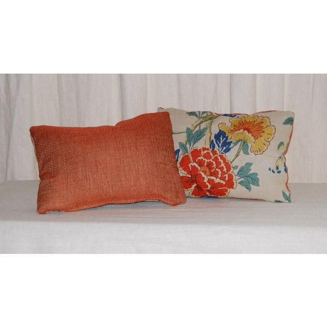 GP Baker Linen Floral Pillows - A Pair - Image 3 of 4