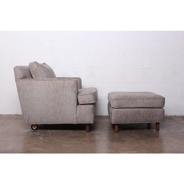 Mid-Century Modern Lounge Chair and Ottoman by Edward Wormley for Dunbar For Sale - Image 3 of 11