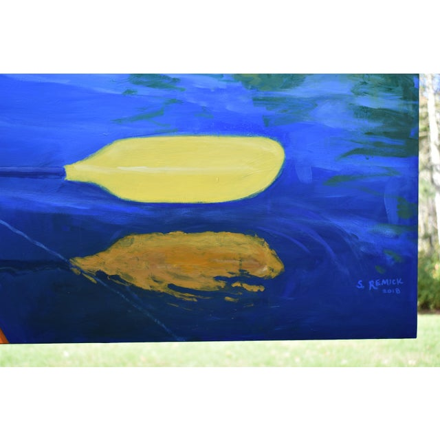"""2010s """"The Journey"""". Large (32"""" X 80"""") Contemporary Painting by Stephen Remick For Sale - Image 5 of 13"""