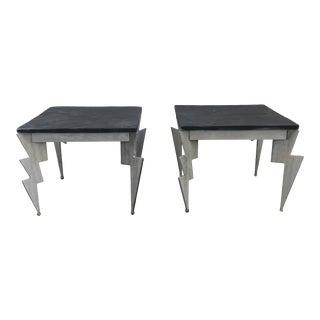 Postmodern Lightning Bolt Tables - a Pair For Sale
