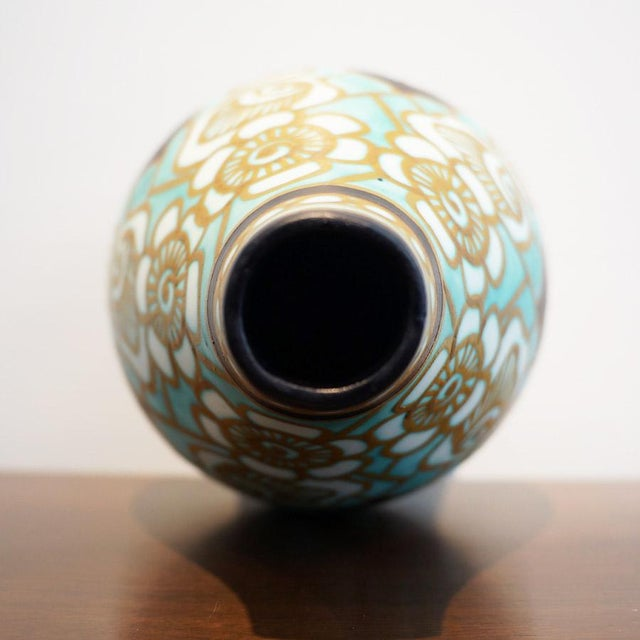 Early 20th Century Charles Catteau Earthenware Vase For Sale In Los Angeles - Image 6 of 8