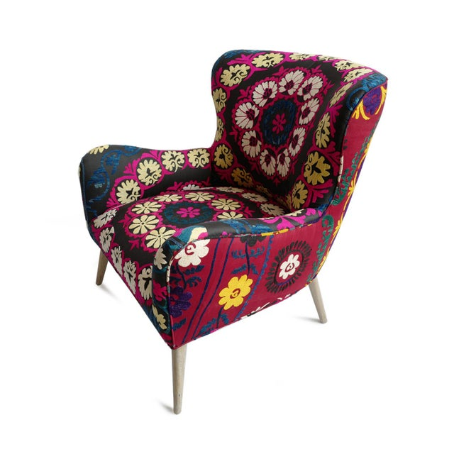 Zena Suzani Arm Chair For Sale - Image 4 of 9