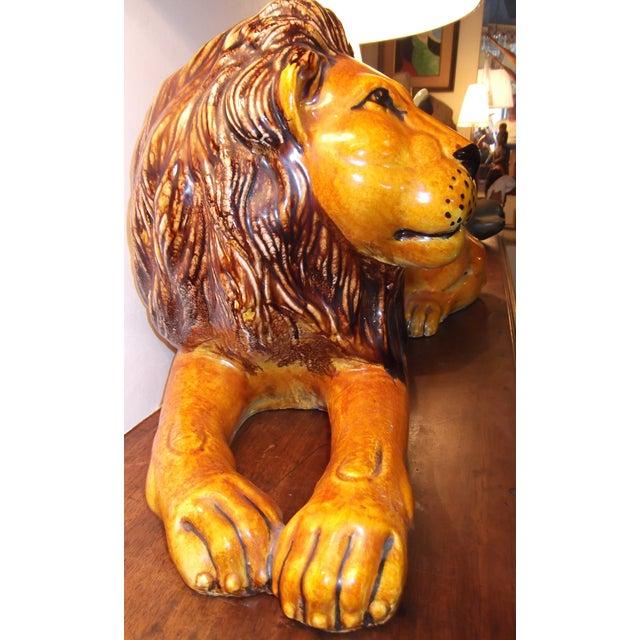 Vintage Terracotta Lion - Image 6 of 11