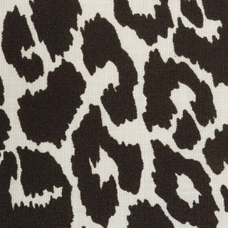 Schumacher Iconic Leopard Indoor/Outdoor Fabric in Graphite For Sale