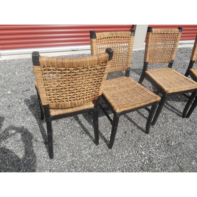 Tommy Bahama Woven Cord Dining Set - 5 Pieces For Sale - Image 6 of 7