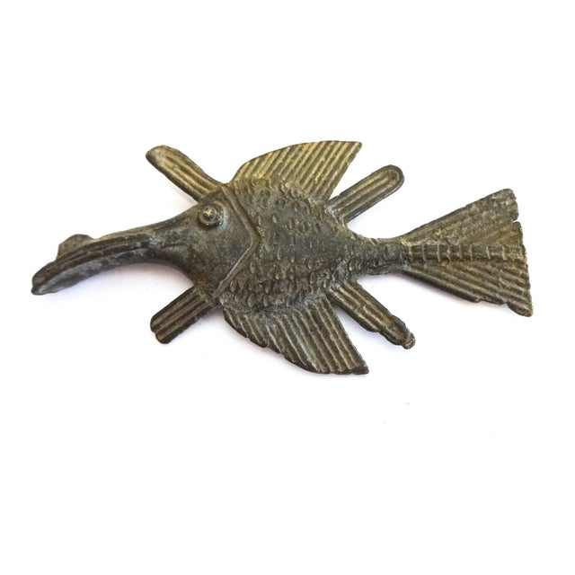 Akan Bronze Gold Weight Figure of a Fish - Image 3 of 4