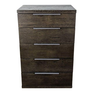 Article Taiga Smoke Five-Drawer Chest For Sale