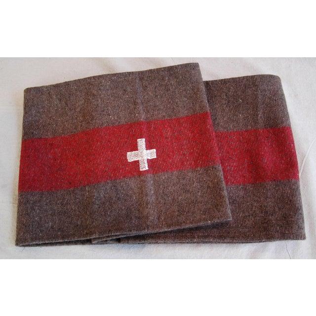 Custom Tailored Swiss Wool Blanket Table Runner For Sale In Los Angeles - Image 6 of 6