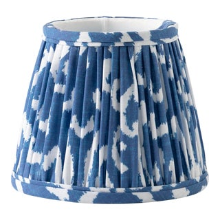 "Bold Ikat in Navy 16"" Lamp Shade, Navy Blue For Sale"