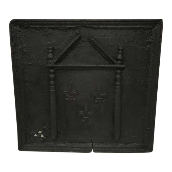 18th C. French Large Square Fireback For Sale