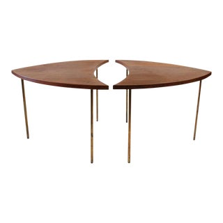 Peter Hvidt for John Stewart Mid-Century Danish Segmented Side Tables - a Pair For Sale