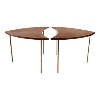 Peter Hvidt for John Stewart Mid-Century Danish Segmented Side Tables - a Pair