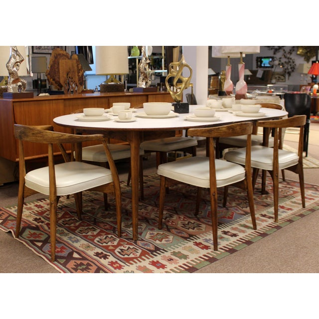 Mid Century Modern Lawrence Peabody Craft Assoc.Dining Table & 6 Side Chairs - Set of 7 For Sale - Image 10 of 13