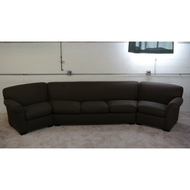 Addison Interiors Brown Wedge Sectional Sofa - 3 Pc. - Image 3 of 3