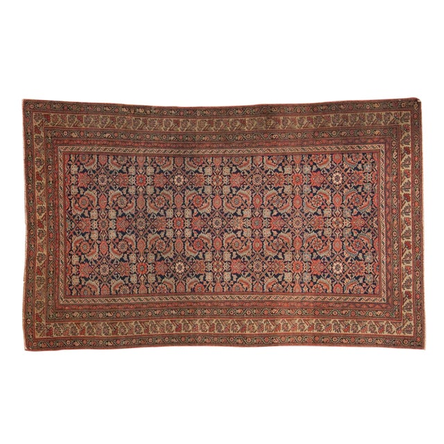 "Antique Mission Malayer Rug - 3'8"" X 5'11"" For Sale"