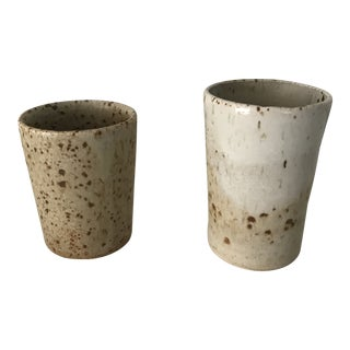 Ceramic Tumblers Tea Glasses - A Pair For Sale