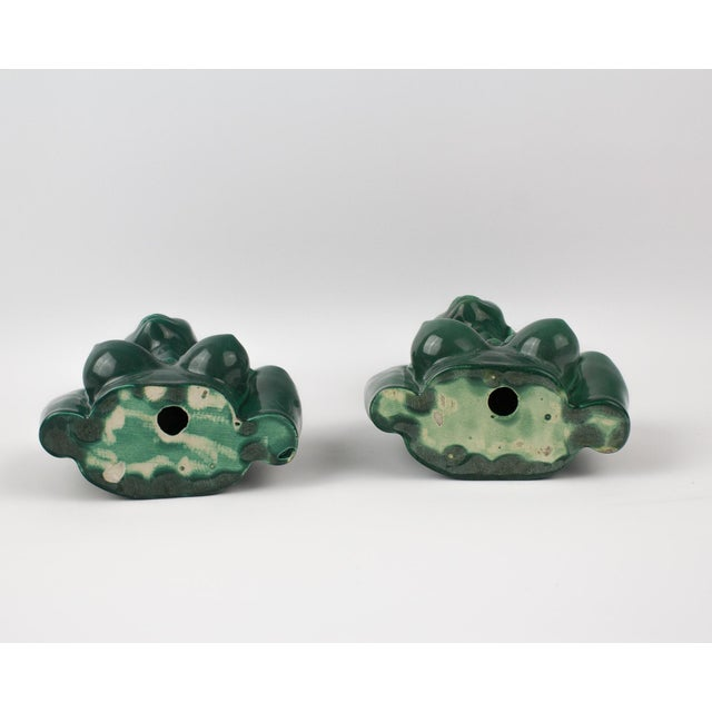 1950s Figurative Green Goddess Busts - a Pair For Sale - Image 11 of 13