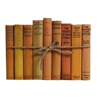 Vintage Citrus ColorPak : Decorative Books in Shades of Warm Yellow and Orange For Sale