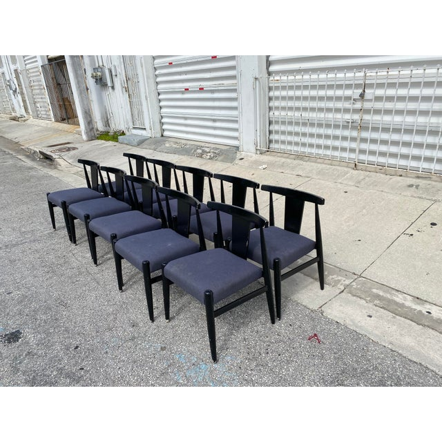 Mid-Century Modern Midcentury Modern Style Klismos Chairs Set of Ten . For Sale - Image 3 of 13