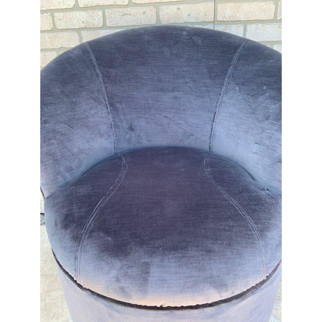 Mid Century Modern Sculptural Directional Barrel Chairs on Casters Newly Uphostered - Pair For Sale - Image 9 of 12