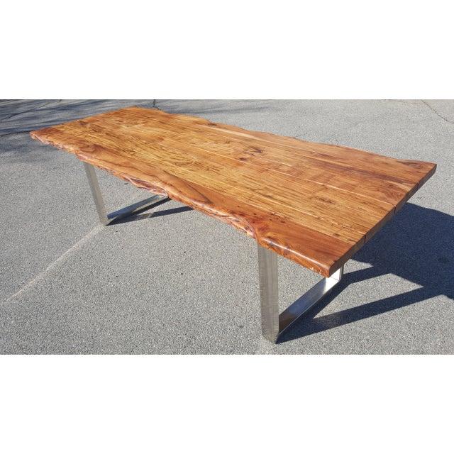 Live Edge Acacia Wood Plank Table - Image 2 of 7